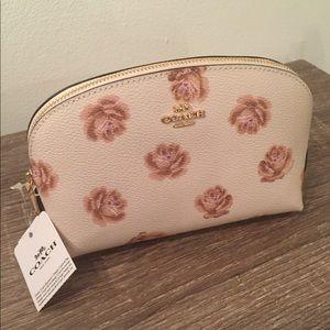 Coach Rose Print Cosmetics Bag NWT